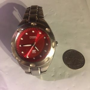 🌹BOGO🌹equal or less value FOSSIL RED FACE WATCH